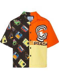 Prada for Men - Designer Clothing - Farfetch Plaid Shirt Women, Denim Shirt Men, Prada, Cool Shirts, Casual Shirts, Designer Clothes For Men, Designer Clothing, Bowling Shirts, Online Shopping For Women