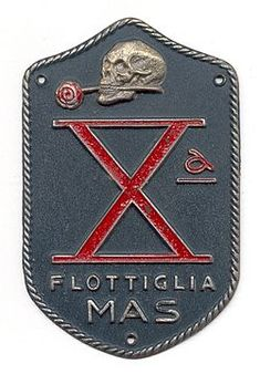 "The Decima Flottiglia MAS (Italian for ""10th Assault Vehicle Flotilla"") was an Italian commando frogman unit of the Regia Marina (Italian Royal Navy) created during the Fascist regime. The acronym MAS also refers to various light torpedo boats used by the Regia Marina during World War I and World War II"