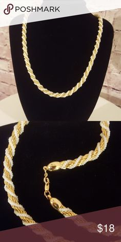 """Gold/pearl wrapped necklace Strand is 1/2 inch thick. Measures 24"""" long. EUC Unknown Jewelry Necklaces"""