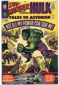 Tales to Astonish 75 Good 1966 Sub Mariner Hulk Marvel Comic Book Stan Lee Hulk Marvel, Marvel Comics Superheroes, Hulk Comic, Marvel Comic Books, Comic Art, Avengers, Spiderman, Silver Age Comics, Old Comics