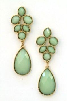 New arrival! Mint Teardrop Earrings $10.99 IN LOVE. Perfect spring earrings