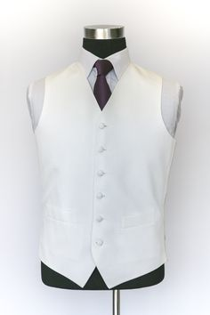 Ivory Rhode Island Waistcoat with Dark Purple Tie Wedding Waistcoats, Rhode Island, Dark Purple, Ivory, Vest, Tie, Suits, Jackets, Collection