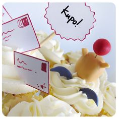 Homenaje a Final Fantasy : Moguri y Cupcakes de Limón...Kupó! Final Fantasy tribute : moguri and lemon cupcakes kupó !