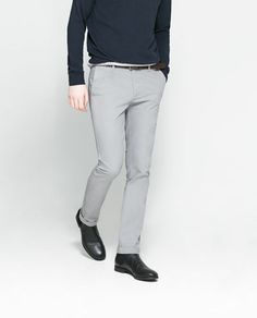Image 2 of CHINOS WITH BELT from Zara