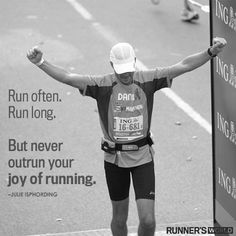 "Never Outrun Joy | Runner's World  ""Run with joy"""