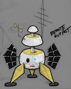 Find Achievements in the Remote Outpost..Initial sketch.- #Weirdables