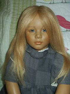 My Annette Himstedt Girl Doll ~ World Child Barefoot Collection.  ~  Human hair, posable & non-breakable.