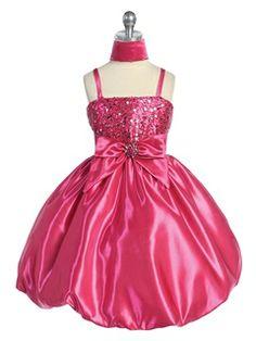 Pretty A-line Knee-length Spaghetti Straps Bowknot& Sequins Flower Girl Dress