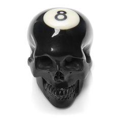 Carved Billiard Ball Skull #8