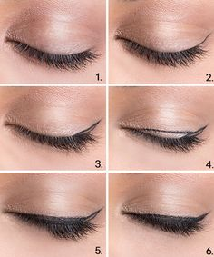 6 easy steps to create the perfect cat eye.
