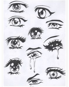 Easy Anime Drawing Eyes - Easy Anime Eyes To Draw Girl Anime Hair Sketches Drawings Easy Drawing Manga Eyes Part Ii Risovat Glaza Risovanie Glaza How To Draw Anime Eyes Step By. Manga Anime, Anime Art, Sad Anime, Anime Crying Eyes, Manga Art, Kawaii Anime, Eye On Anime, Manga Books, Otaku Anime