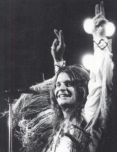 """""""I have a genuine love affair with my audience. When I'm on stage they're not privileged to see me. It's a privilege for me to see them."""" - Ozzy Osbourne"""