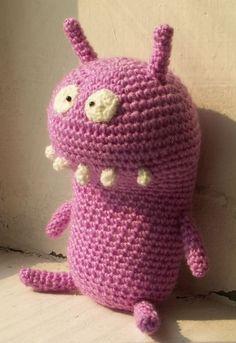 Purple monster by http://www.pinterest.com/igipu4ka/my-crochet-and-felt-toys/