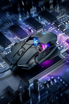 Gaming mouse with x-ray design, 4000 dpi sensor and RGB LED illumination - Gamer House Ideas 2019 - 2020 Apple Watch Colors, 1366x768 Wallpaper, Gaming Room Setup, Video Game Rooms, Technology Wallpaper, Game Room Design, Gaming Accessories, Gaming Wallpapers, Space And Astronomy