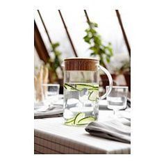 IKEA 365+ Kannellinen kannu, kirkas lasi, korkki - IKEA