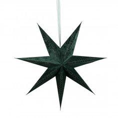 Papirstjerne velur 75 cm Grønn | Kremmerhuset