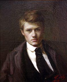 Emile Friant, Self-portrait.