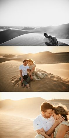 Sand dunes engagement in Glamis California by Paige Nelson photography