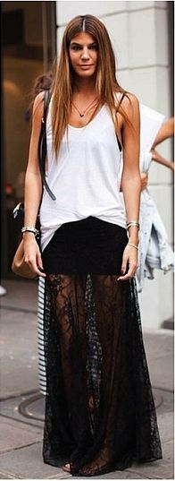 MAXI SKIRT- Don't like the sheer part, but the outfit as a whole is cute!