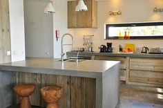 Diseño de Cocinas de Cemento: Decoración de Cocinas de Concreto