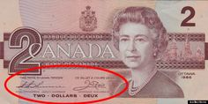 Canadian Banknotes 2 Dollars bank note 1986 Her Majesty Queen Elizabeth II, Queen of Canada Ottawa, Rare Coins Worth Money, Valuable Coins, 2 Dollar Bill, Canadian Coins, Canadian Bacon, Canadian Maple, Two Dollars, Coin Worth