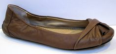ME TOO 'Lis4' Brown Leather Ballet Flat Size 8.5M #MeToo #BalletFlats