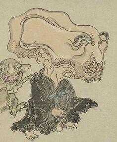 """ぬらりひょん『暁斎百鬼画談』河鍋暁斎 Nurarihyon from """"Kyosai's One Hundred Scary Illustrated Tales"""", KAWANABE Kyosai"""