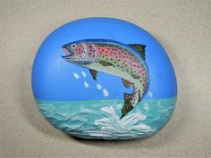 Rainbow Trout Painted Rock
