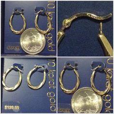 NWT 10k gold hoop earrings NWT 10k gold hoop earrings Jewelry Earrings