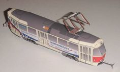 CKD Tatra T3SU Tramcar Ver.2 Free Vehicle Paper Model Download…
