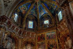 Inside the Valencia Cathedral, Spain