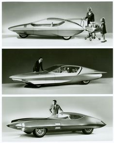 1964-65 Futurama GM Concepts, Runabout, Firebird-IV and Stilletto.