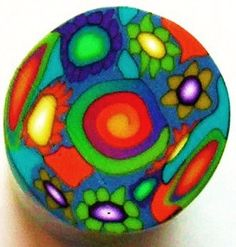 Polymer Clay Cane  Fimo Premo  By Norrine / 091 by Norrine on Etsy, $5.99