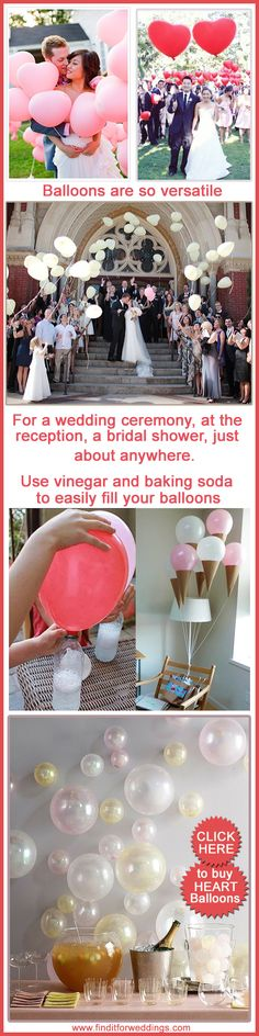 #DIY #Wedding decorations party #decorations balloons Infographic www.finditforweddings.com CLICK to buy heart balloons