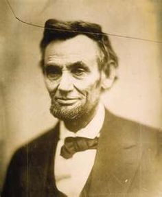 Last photo of President Abraham Lincoln ever taken (only days before his death). The line at the top came from the glass plate being dropped.