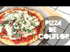 Pizza con masa de coliflor :)
