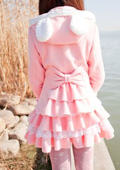 Lolita Bunny Ears Coat from SYNDROME Kawaii Harajuku Shop