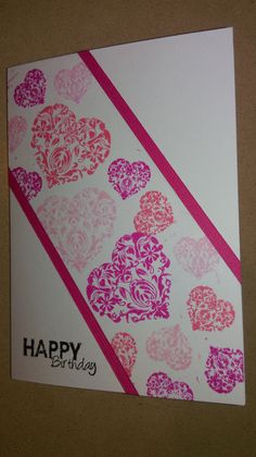 Challenge for Live, Love Cards. Diagonal layout