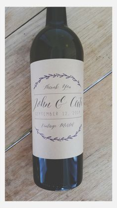 Personalized Rustic Wine Labels as Wedding Favors / Corporate Wine Labels…
