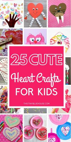 25 Super Cute Heart Crafts For Kids - This Tiny Blue House Here is the best and cutest collection of heart crafts for kids to make for Valentines Day. Super easy and with few supplies these heart crafts will keep kiddos busy for hours! Valentine Crafts For Kids, Valentines Day Activities, Valentines For Kids, Craft Activities, Valentine Ideas, Valentine Hearts, Printable Valentine, Homemade Valentines, Valentine Wreath