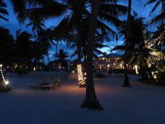 Victoria House at night. San Pedro, Belize