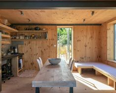 Prefab Artist Studio Cabin New Zealand | Apartment Therapy Cabana, Cabin Design, House Design, External Cladding, Prefab Cabins, Prefab Homes, Timber Panelling, Built In Furniture, Studio Apartment