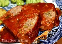 Creole Meatloaf with Tomato Gravy - A tender and tasty meatloaf, infused with the trinity, seared and cooked in a roux based tomato gravy. Made this tonight. The best meatloaf I've ever had Creole Recipes, Cajun Recipes, Meat Recipes, Cooking Recipes, Sirloin Recipes, Kabob Recipes, Fondue Recipes, Oven Recipes, Recipes