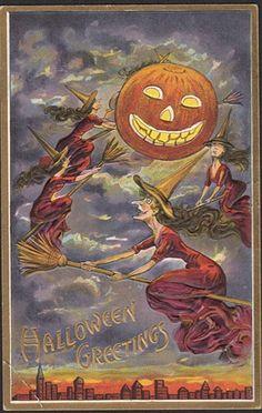 Vintage Halloween Card 1912