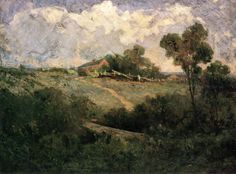 """The Old Home,"" Edward Mitchell Bannister, 1899, tempera on canvas, 18 x 24"", private collection."