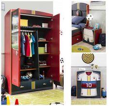 Habitación temática Fútbol de Cilek : La marca Cilek acaba de producir una encantadora línea de mobiliario infantil inspirada en el deporte favorito de nuestros peques, el Fútbol. Esta bonita c
