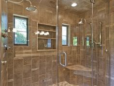 Gorgeous shower tiles.