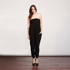 samantha eng.:Pleated Harem Jumpsuit Black now featured on Fab.