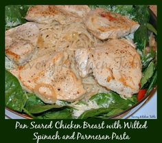 Pan Seared Chicken w/ wilted Spinach @Savory Kitchen Table