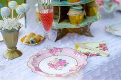 Tea Party plates and cakestand